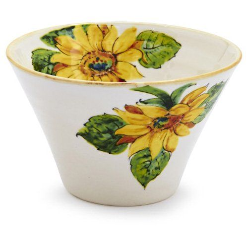 A Delightful Addition To Any Summer Table, Our Exclusive Sunflower Bowl  Adds Bright, Floral Freshness To Any Décor. Attractive Earthenware Bowl Is  Great For ...