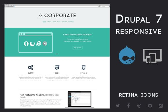 Check out Corporate - Drupal 7 Business Theme by MarkVI on Creative Market
