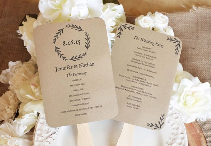 Take your wedding programs to the next level with these fun ideas - Wedding Party