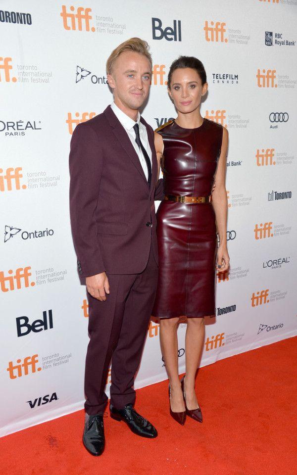 Fabulously Spotted: Tom Felton & Jade Olivia In Burberry - 2013 Toronto International Film Festival 'Therese' Premiere - http://www.becauseiamfabulous.com/2013/09/tom-felton-jade-olivia-in-burberry-2013-toronto-international-film-festival-therese-premiere/