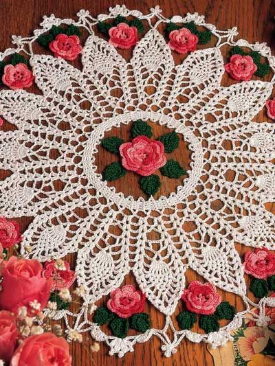 Crochet - Doily Patterns - Pineapple Patterns - Roses and Pineapples