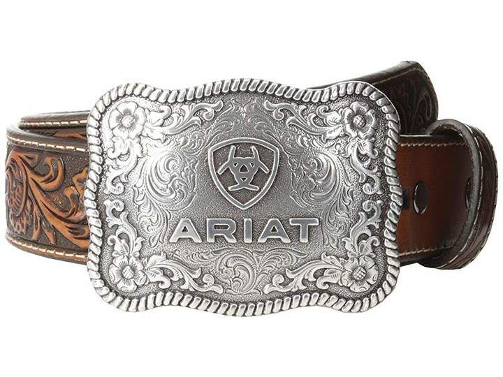 Ariat Rectangle Rope Edge Shield Buckle Belt Womens Belt Buckles Cowgirl Belt Buckles Country Belt Buckles