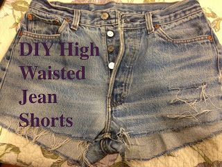 DIY high waisted jean shorts.  Save on spending so much money on high waisted shorts from stores!  Instead, make them on your own!!