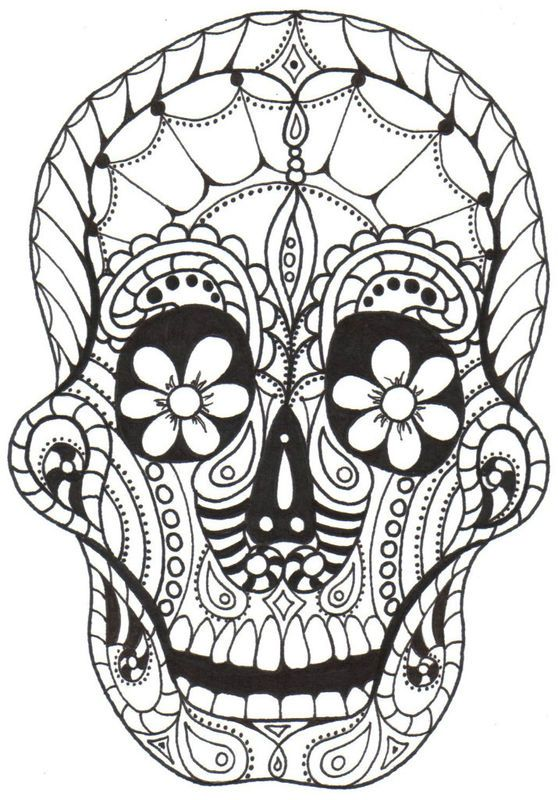 coloring pages dia de los muertos - 307 best images about skull day of the dead coloring on
