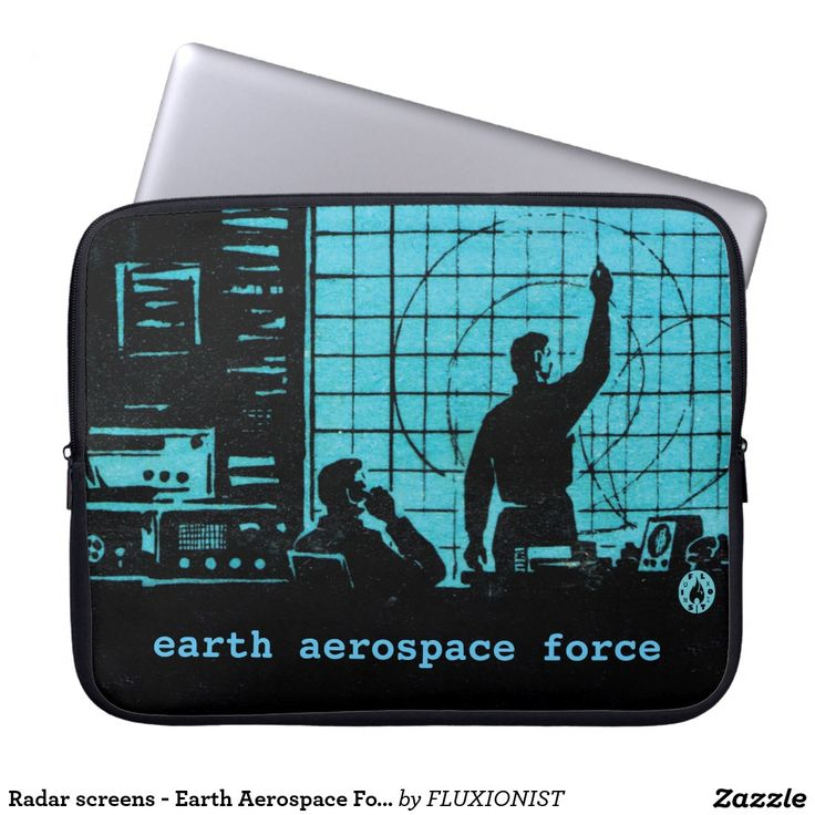 """Earth Aerospace Force: Control Room"" Computer Sleeves - $30.80 Made by FUJIFILM / Design: Fluxionist -- Serious computing going on!"