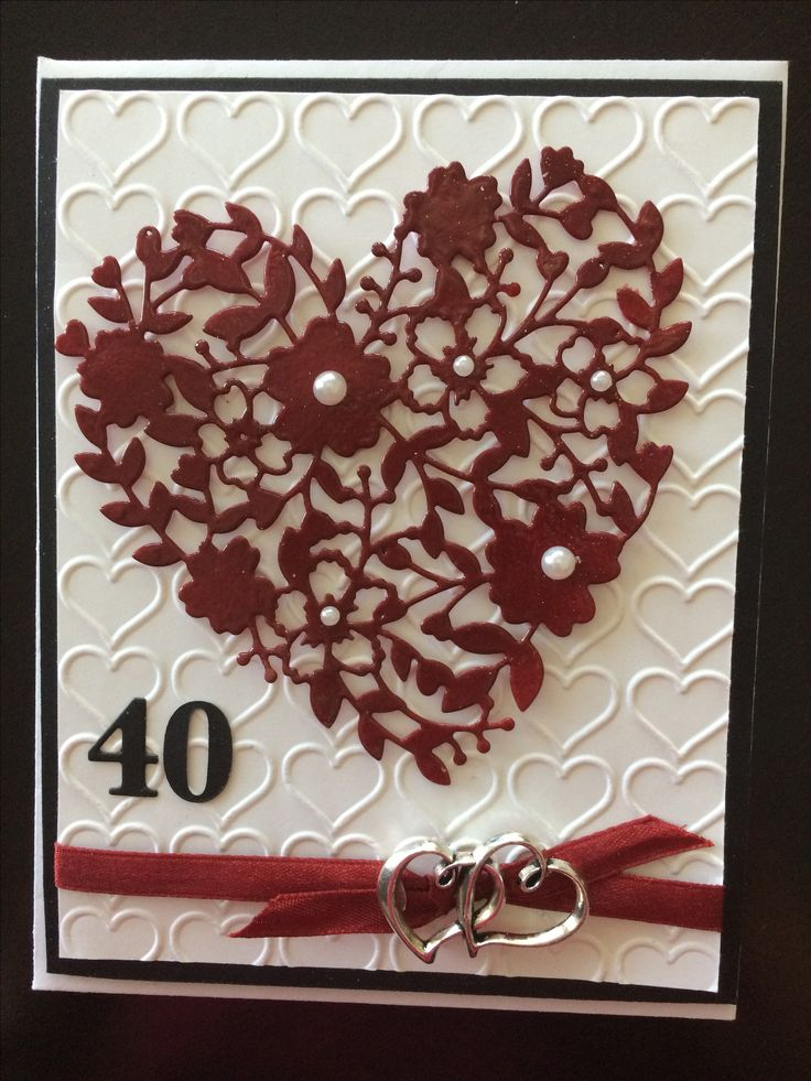 Bloomin Heart Thinlit For 40th Anniversary Ruby Wedding Gift IdeasRuby