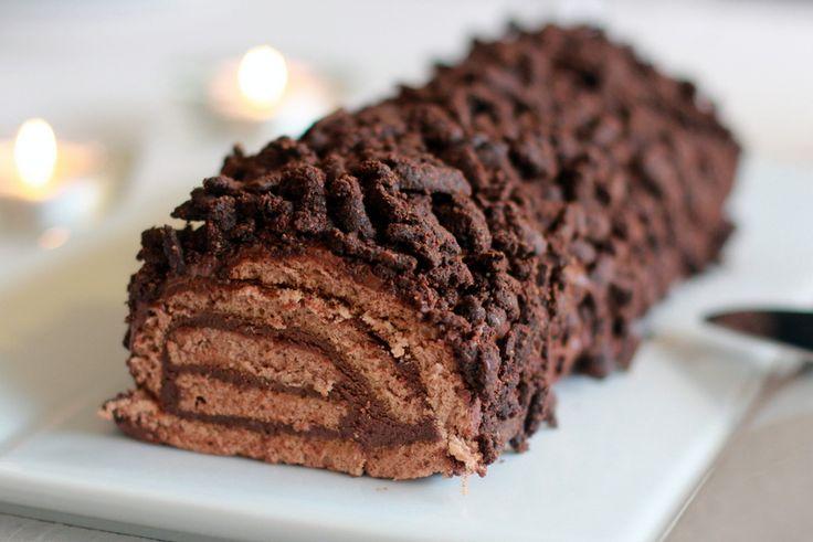 Une recette inratable de Bûche de Noël au chocolat au Thermomix sur Yummix • Le blog dédié au Thermomix !