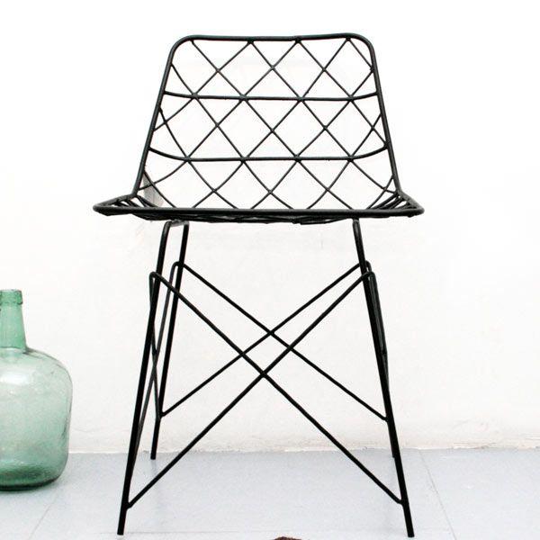 Silla Triángulos 2 negra by Diamantina&LaPerla (decohunter)