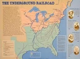 The Underground Railroad. See the videos and documentation about Harriet Tubman on National Geographic: http://www.history.com/topics/black-history/underground-railroad