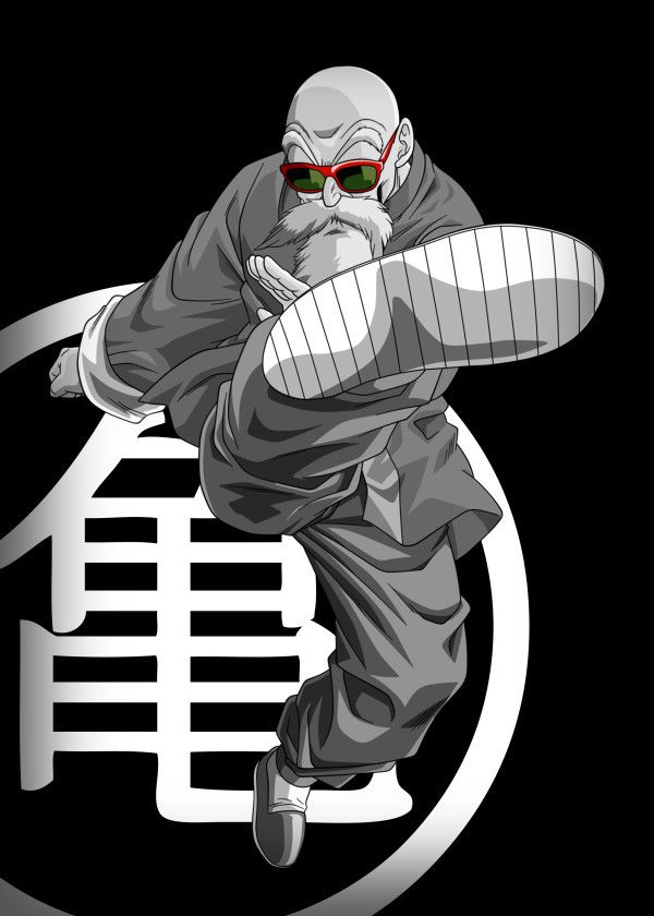 Displate Poster Master Muten Roshi From The Manga Anime Dragonball Muten Roshi Mutenroshi Dragonball Dbz Kame Master Dragon Ball Art Dragon Z Anime Life