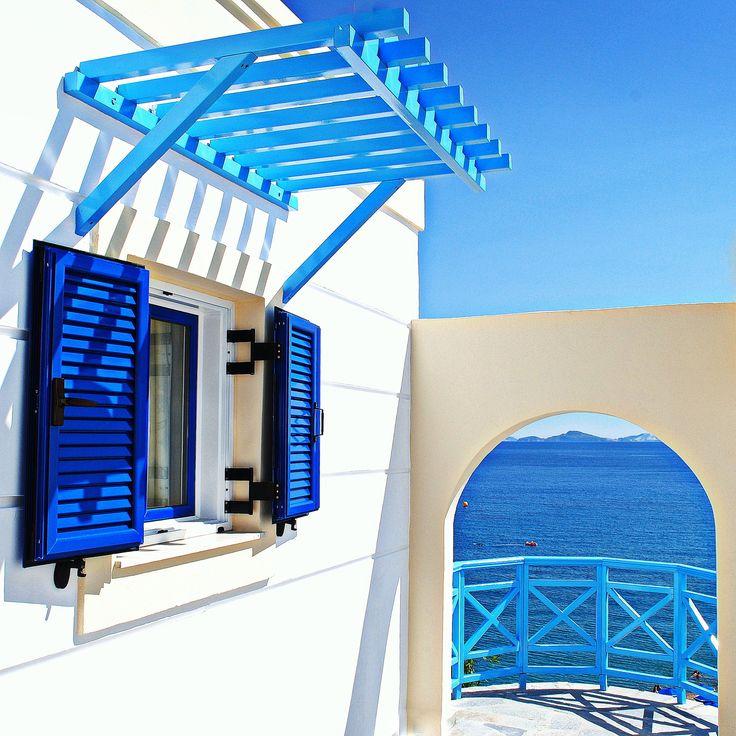 white and blue   the greek colors  Kardamena on the island Kos - Greece