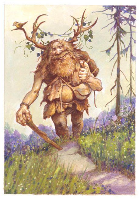 TROLL = Créature fantastique (Mythologie Scandinave). Chez Tolkien, les Trolls de la Terre du Milieu sont presque des géants brutaux, voraces et bêtes. (Illustration : LARRY MAC DOUGALL - Olaf the mountain troll)