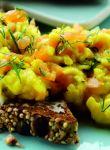 Paul Merrett's salmon scrambled eggs