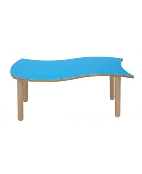 ONDA, Tavolino componibile per bambini, bordi e spigoli arrotondati, differenti colori e forme, per asili e scuole materne