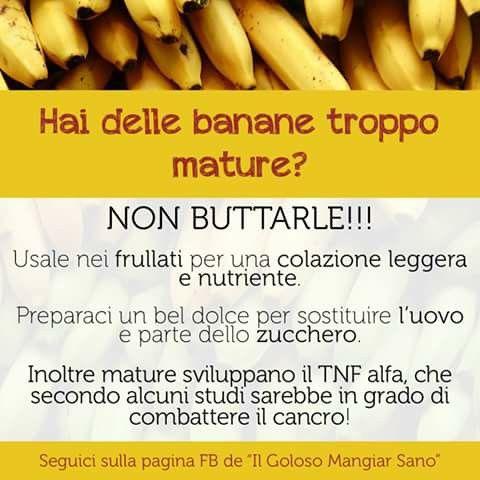Banane mature utili