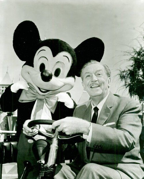 mickey mouse with mr. walt disney