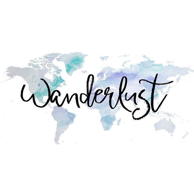 Wanderlust (n): A strong desire to travel. It's origin is from the German word wandern. While it may seem like a buzzword, it's earliest known use is 1875.
