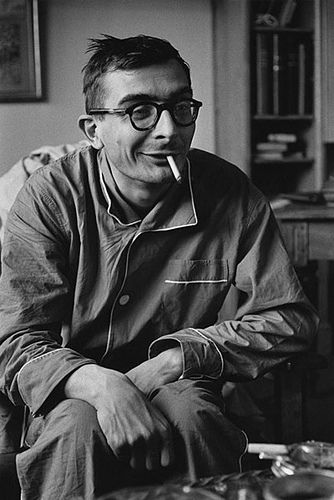 Claude Chabrol by Jean-Loup Sieff 1959, presumably he just got out of bed in an age when pyjamas were acceptable.