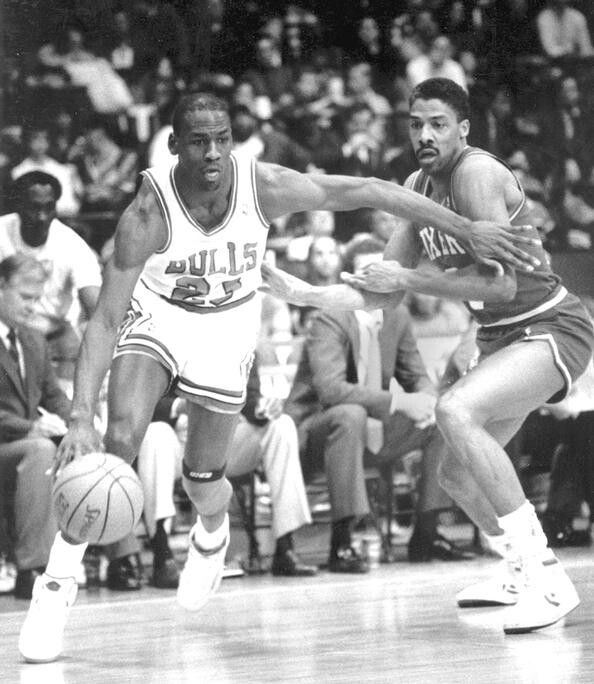 Michael Jordan and Julius Erving