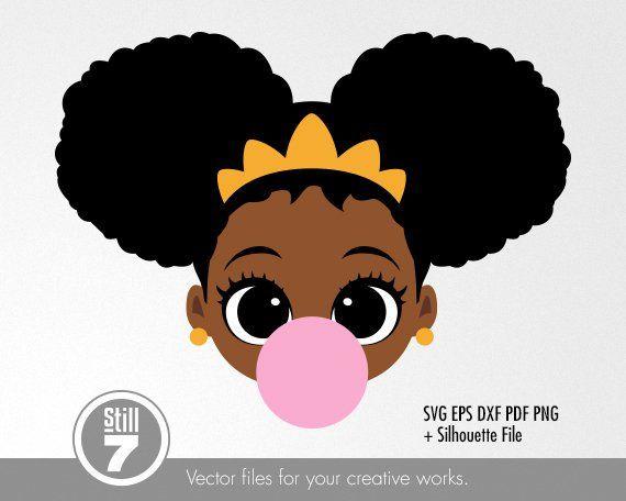 Pin On Little Black Girl Svg Files