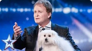 marc métral and his talking dog wendy wow the judges audition week 1 britain's got talent 2015 - YouTube