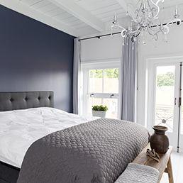 Binnenhuisarchitectuur grachtenpand landelijk wonen  - Bedroom -