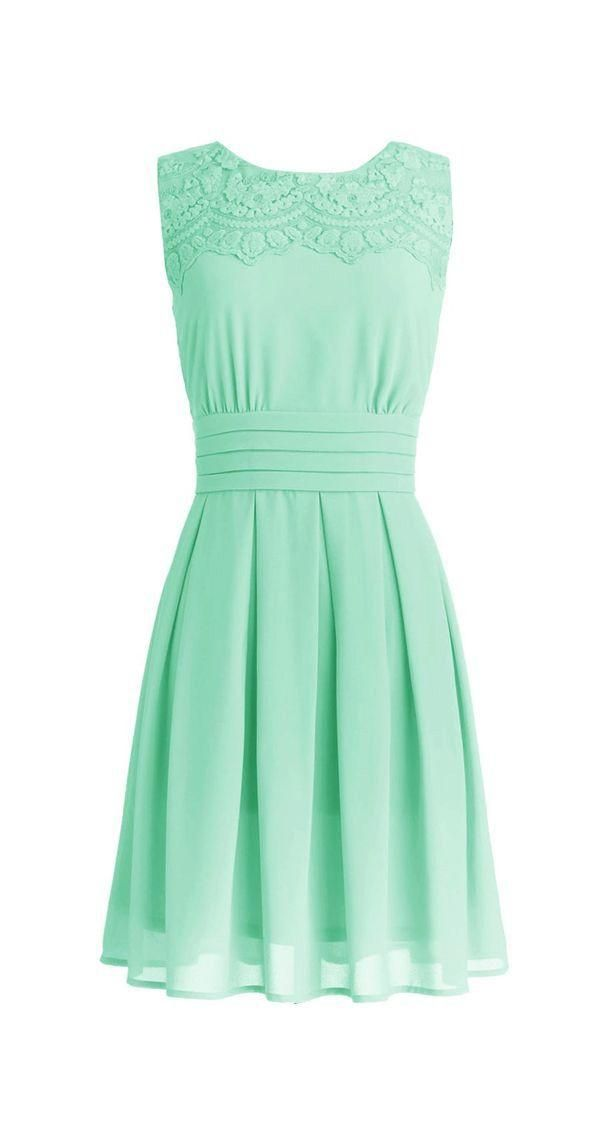 Bridesmaid Dresses Limerick Short Mint Bridesmaid Dress With Lace Crew Neck Chiffon Wedding Formal Dress Available Plus Size Fast Shipping Bridesmaids Dresses Sale From Lynbridal, $40.84| Dhgate.Com