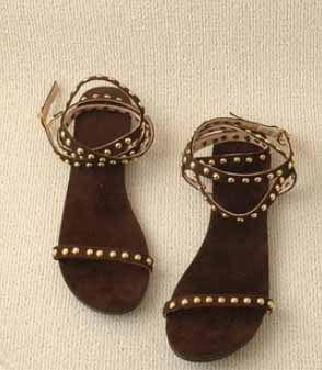 BBS-MY10002 Новые большой патент размер заклепки кожа случайные удобные сандалии милая леди обувь 4-11 м US $34.00