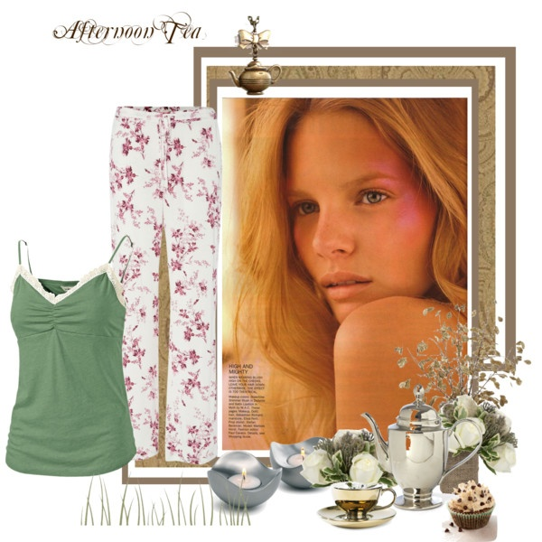 Home alone: Afternoon tea by bonnieai on Polyvore