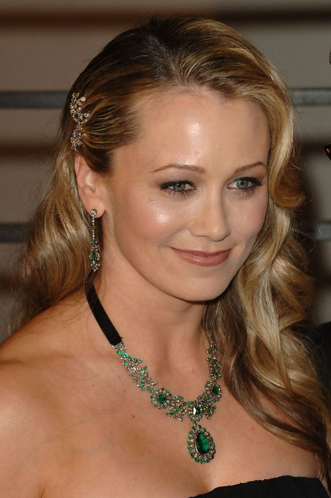 2010 Vanity Fair Oscar Party - Christine Taylor selected fine vintage jewelry, a necklace from the 'Virreina' suite of jewels and a pair of vintage emerald and diamond earrings from Stephen Russell. The rare emerald and diamond necklace is circa 1780 and of royal provenance. and features a 10.76-carat Old Mine Colombian emerald and 3 emeralds approximately 4-carats total weight.