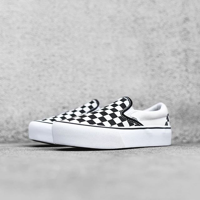 VANS en on checkers en slip más plataformaLas zapatillas 8vNmn0w