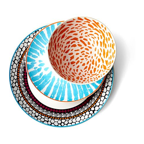 DRIFTIG Bowl IKEA Dinnerware with a modern and playful pattern inspired by the fashion world and nature.
