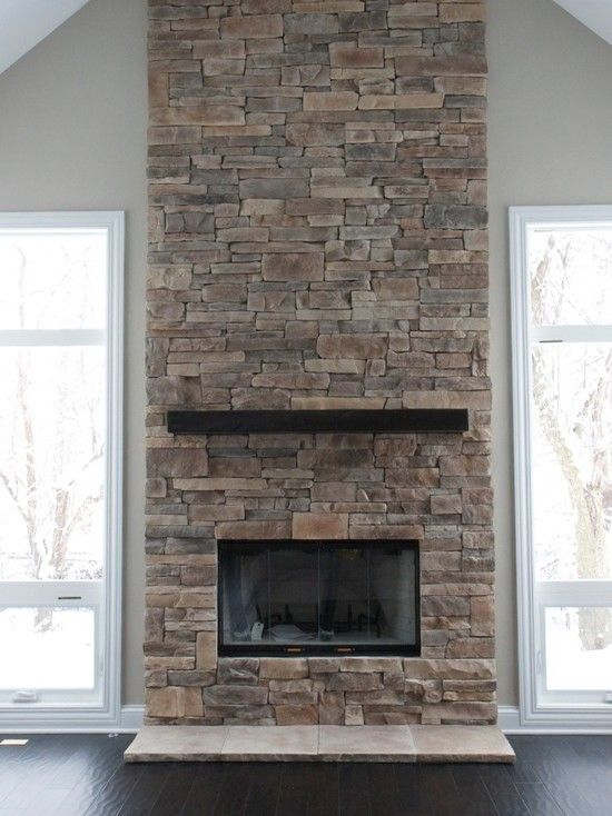 I like the stone on this one. ---Fireplace Design, Pictures, Remodel, Decor and Ideas - page 543