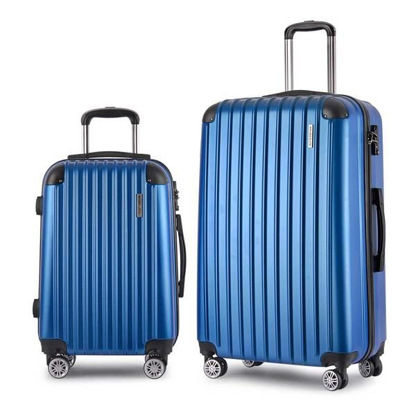 Set of 2 Hard Shell Travel Luggage with TSA Lock - Blue – Click Online Sales