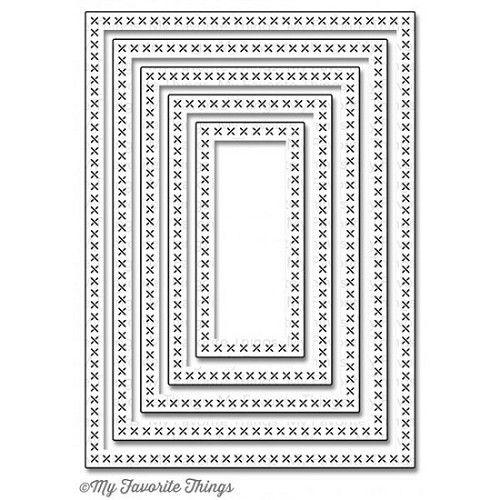 Kruissteek snijmal - My favorite things rechthoek