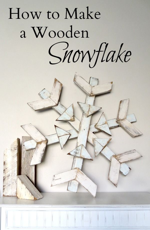 DIY: How to Make a Wooden Snowflake - using reclaimed wood. Great post has a lot of great designs. These would be perfect to make for gifts and to sell at craft shows - via myalteredstate.co