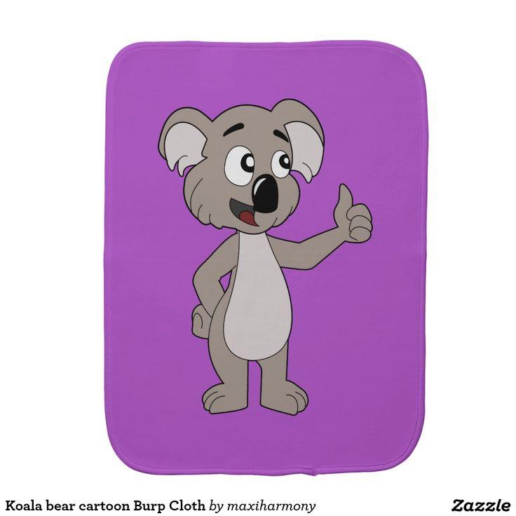 Koala bear cartoon Burp Cloth