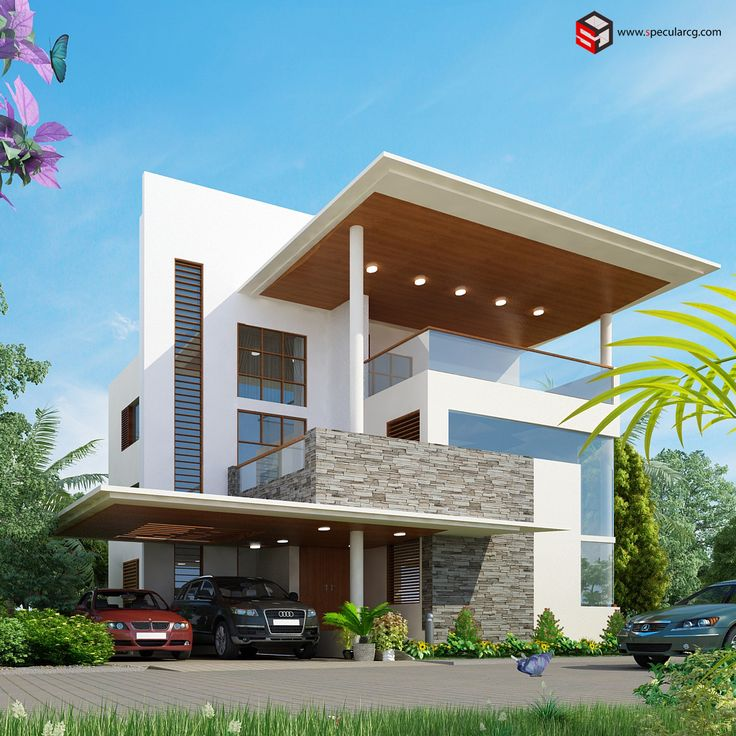 #SHRI Group Rchitecture #exterior #3d #architectural Design.. Modern  HomesHome ...