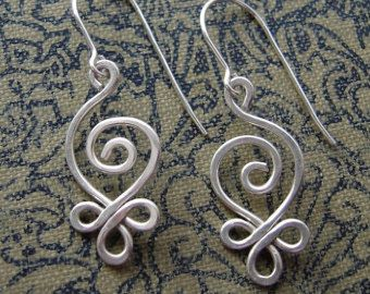 Celtic Infinity Spirals Copper Earrings by nicholasandfelice