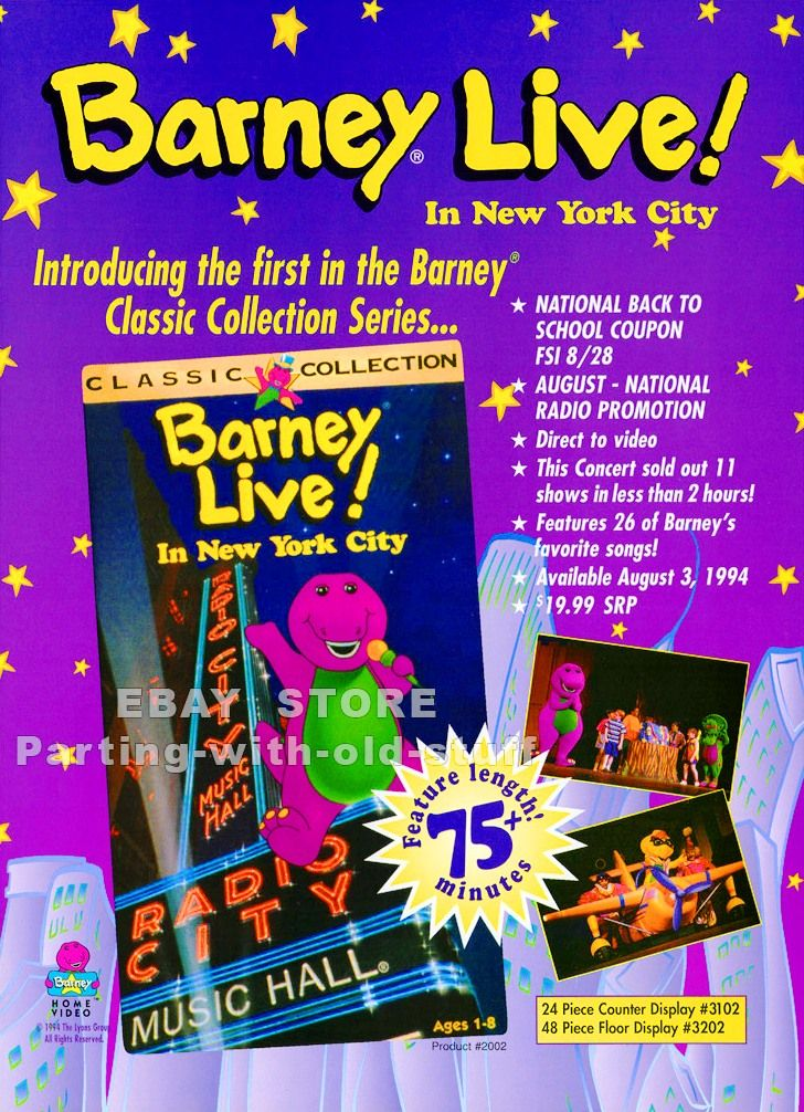 5249bc0c Barney Live! Promo Ad by BestBarneyFan on DeviantArt | Barney and ...