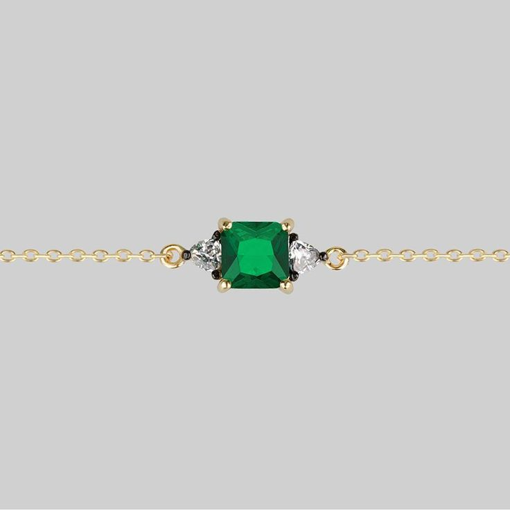 BETROTHAL. Green Quartz Chain Choker - Gold