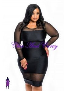 New Plus Size 2-piece Set Black and Mesh Crop Top and Skirt 1X 2X ...