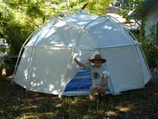 Worlds Strongest Dome Tents: Tensegrity - Geodesic Tent Structures  8 foot	 6 ft. 4 in. 50 sq. ft. 20 lb 1 none $336   -10.27.2015