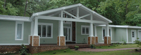Craftsman style porch eaves exterior refurb pinterest for Craftsman screened porch