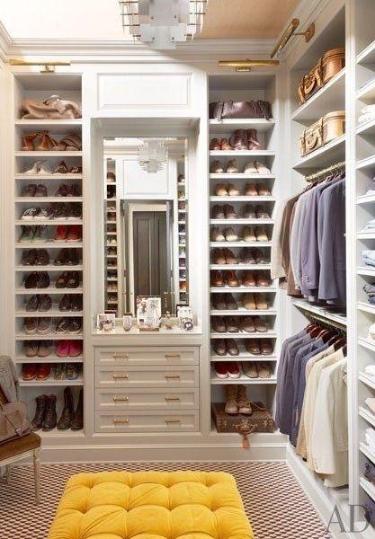 Perfectly organized dream closet
