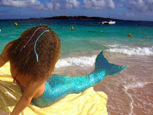 When I was a kid, I would have killed for this!!  Swimmable Mermaid Tail by TAILZmermaidGear on Etsy, $55.00