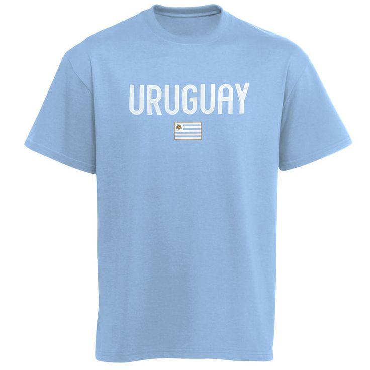 Uruguay Country Flag T-Shirt - Blue