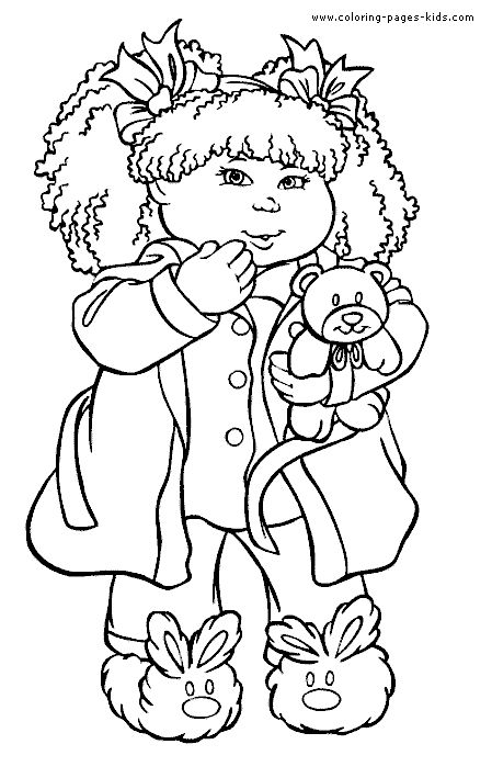 cabbage patch kids coloring pages cabbage patch kids color page print color