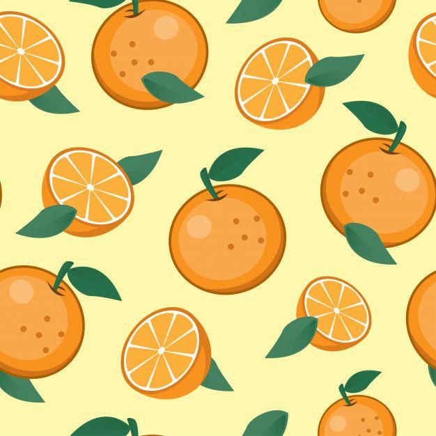 Seamless Oranges Fruit Pattern Background Fruit Pattern Fruit Cartoon Fruits Drawing