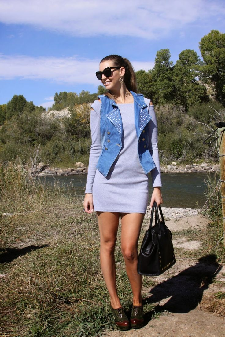 MyStyleSpot: A Cozy Sweater Dress for Fall and a Fabulous Denim Vest: Fancy Dress Store  #fancydressstore #blog #blogger #review #fashion #style #shop #shopping #clothes #clothing #amazon #sweater #dress #denim #vest #outfit #ootd #pinoftheday #mystylespot